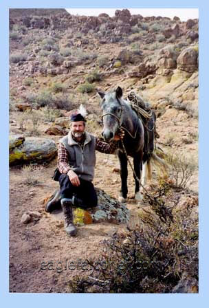 Alan Gates with Mongolian horse