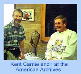 Kent Carnie, Archives of Falconry