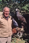 Molan Nelson with eagle