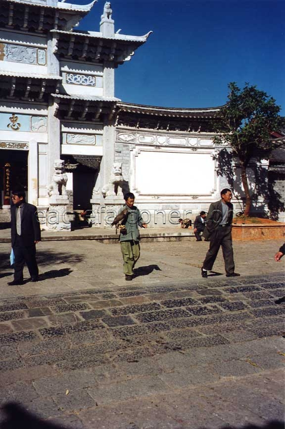 Naxi falconer in Lijiang
