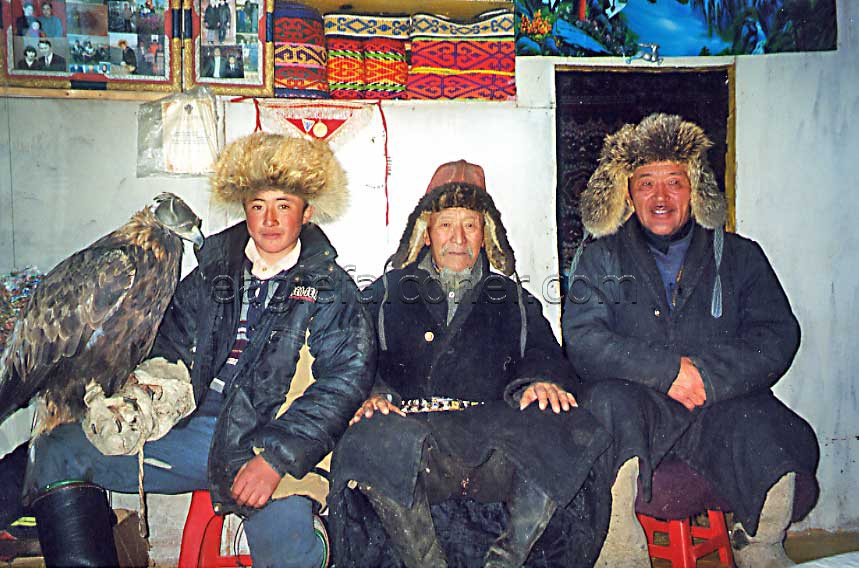 Kazakh Eaglehunter family